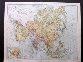 Gross 1920 Large Map. Asia - Political